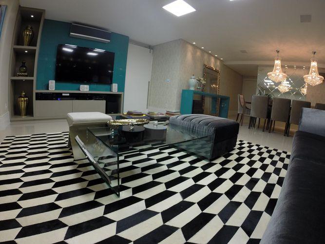 Decoração Sala de Estar Piso em xadrez casaarquitetosassociados