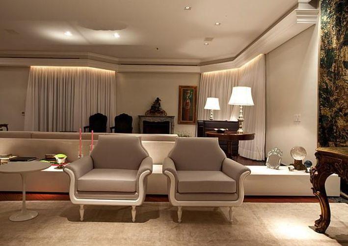 Sala De Estar Branca E Cinza ~ Sala de estar com poltrona branca e Cinza de Mauricio Karam  66493 no