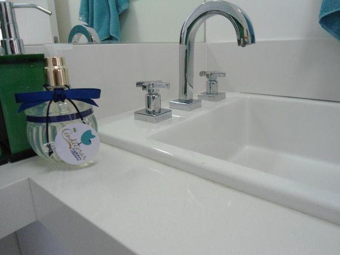 Banheiro com cuba branca de Condecorar Arquitetura e Interiores  77667 no Vi -> Cuba Banheiro Branca