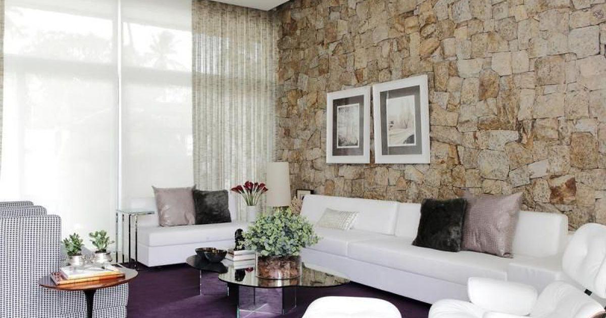 Sala de estar com quadro decorativo de rodrigo fonseca for Sala de estar quadro