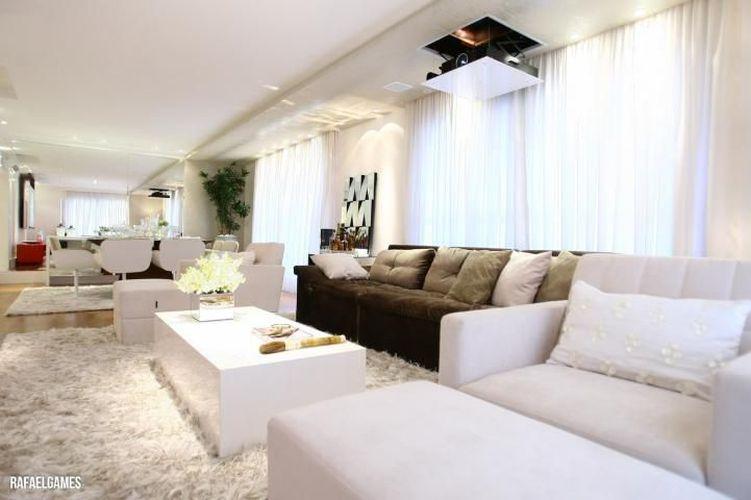 Sala De Estar Com Sofa Marrom ~ Sofá marrom na sala de estar de Carla Arigón Felippi  72677 no Viva