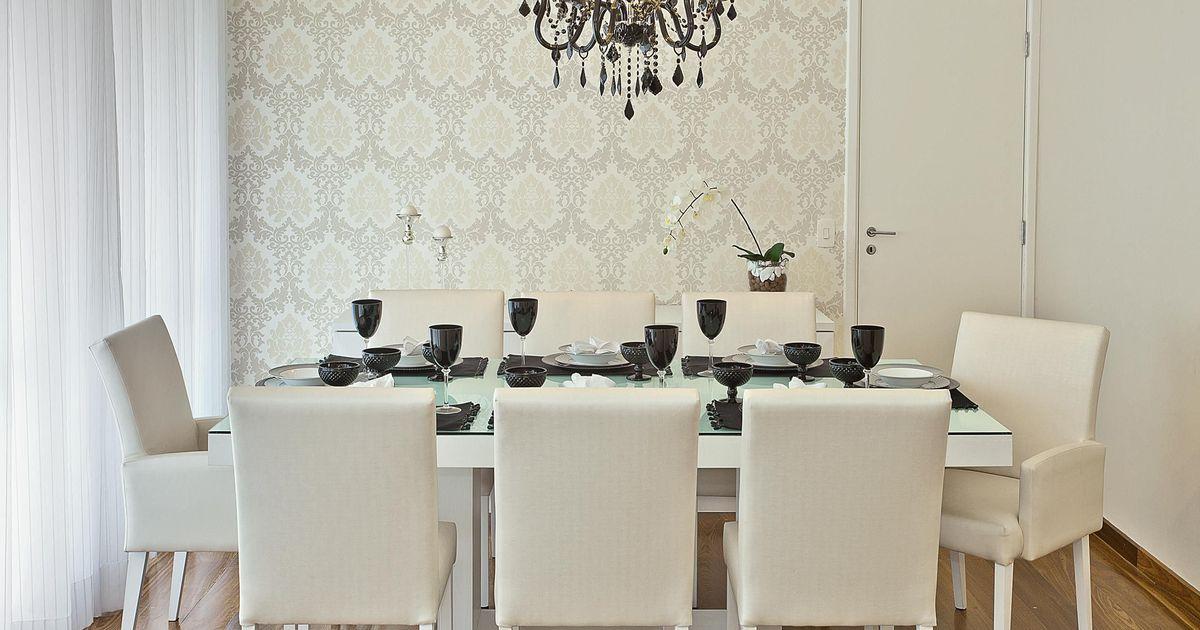 Para sala de jantar, iluminação com elegância