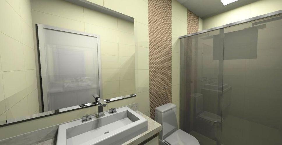 Banheiro com pastilha Marrom de Joel Jose  59419 no Viva Decora # Banheiro Com Pastilha Marrom