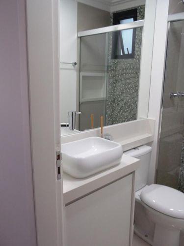 Banheiro com cuba branca de Condecorar Arquitetura e Interiores  77846 no Vi -> Cuba Banheiro Branca