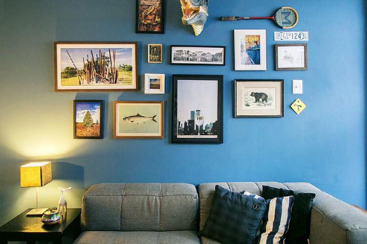 Quadros Na Parede Da Sala De Estar ~ Quadros na parede da sala de estar com molduras de Casa Aberta  19764