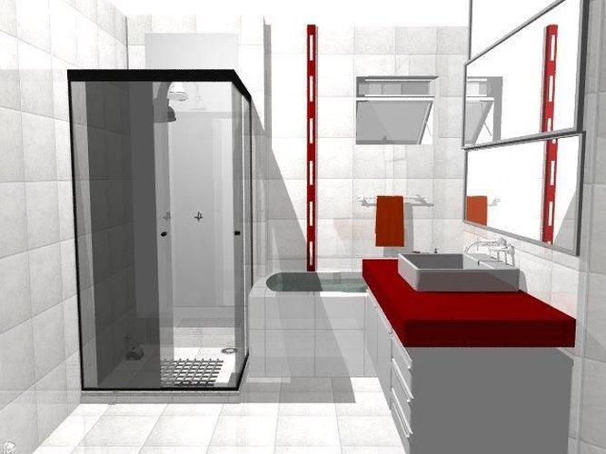 decoracao de banheiro vermelho e branco:Banheiro vermelho e Branco de Luciana Favett – 49762 no Viva Decora