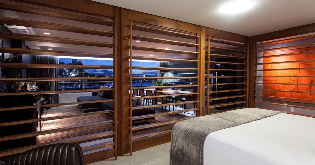 Repartição feito de madeira de SQ+ Arquitetos Associados - 65453 no