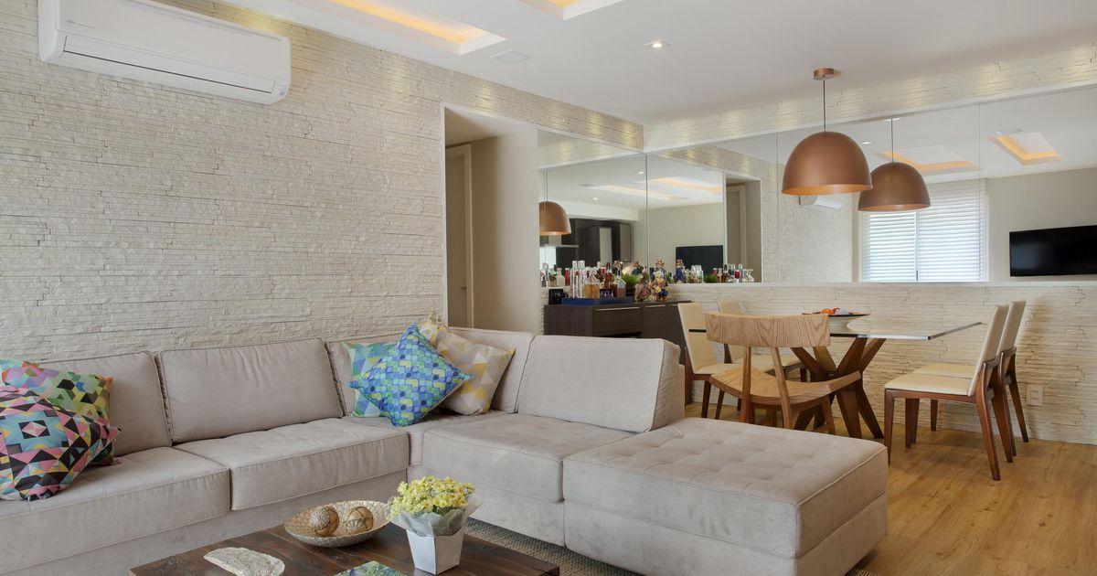 Sala ampliada de cyntia sabat 14901 no viva decora for Kit sala de estar