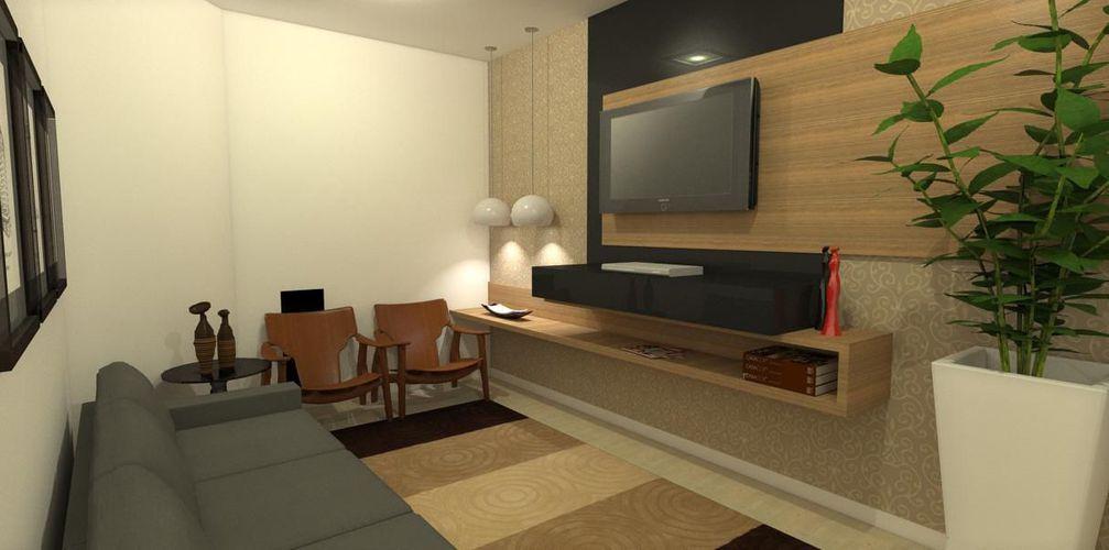 Sala pequena de only design de interiores 37960 no viva for Interiores salas pequenas