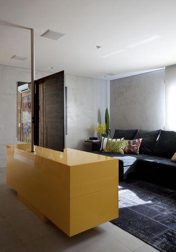 Sala De Estar Com Amarelo ~ Sala de estar com móvel Amarelo de Marcelo Rosset Arquitetura  64976