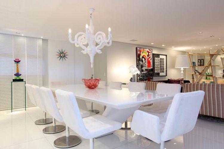 Cadeira Para Sala De Jantar Branca ~ Sala de jantar com mesa e cadeira Branca de Rodrigo Maia  62187 no