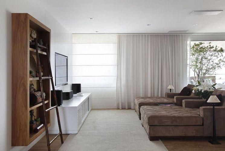 Sala De Estar Com Escada ~ Sala de estar com estante e Escada de A1 Arquitetura  75942 no Viva