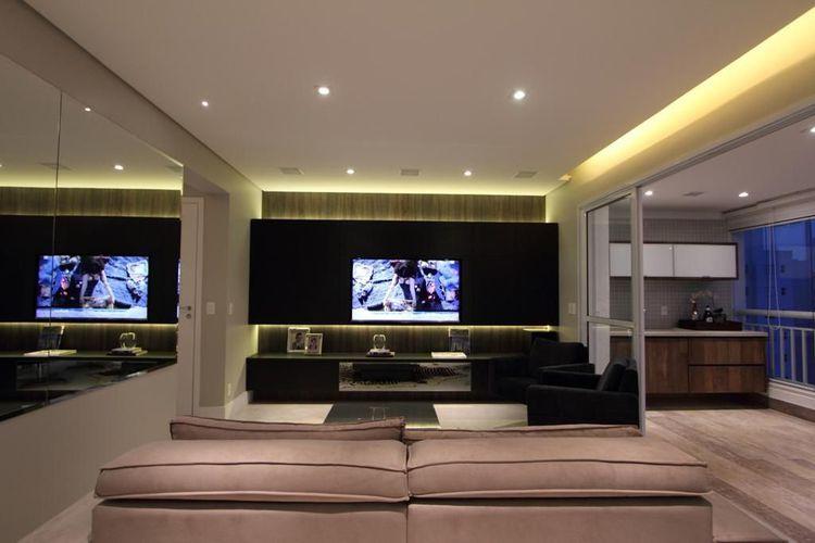 Sala Tv Minimalista ~ Decoração Sala de Estar Sala de TV minimalista archduo 34745