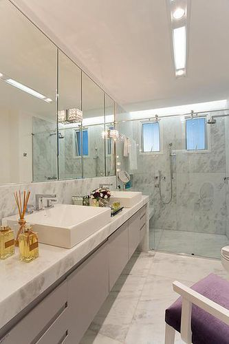 Banheiro Clean de Karla Oliveira  57911 no Viva Decora -> Banheiro Clean Simples