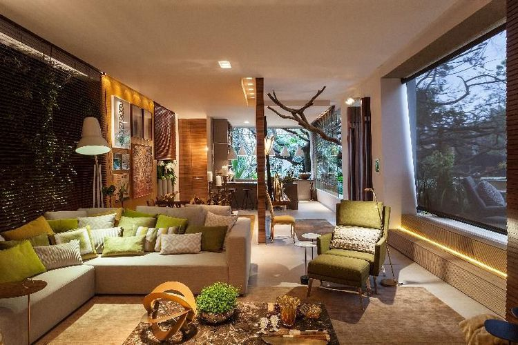 Sala De Estar Verde ~ Sala de Estar com poltrona verde de Luis Fabio Rezende de Araujo