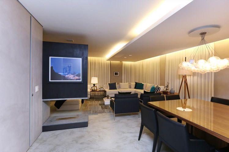Sala De Estar Com Gesso ~ Sala de estar com teto baixo de Gesso de Hildebrand Silva Arquitetura