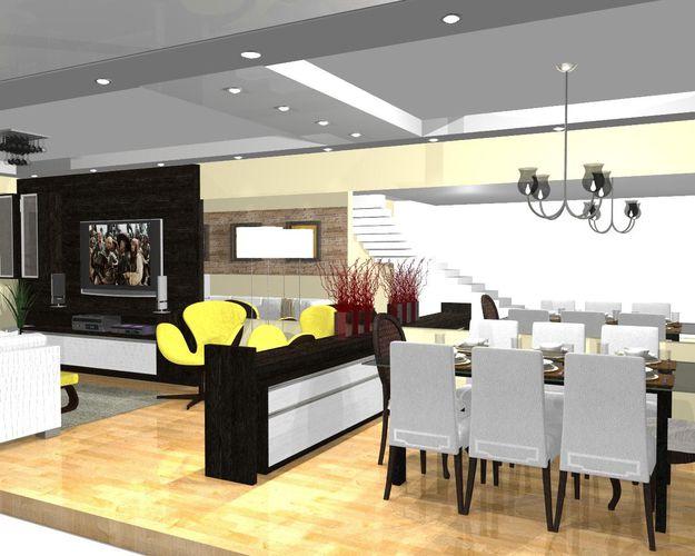 Sala De Estar Com Poltrona Amarela ~ Decoração Sala de Estar Poltrona Amarela luizotavio 50741