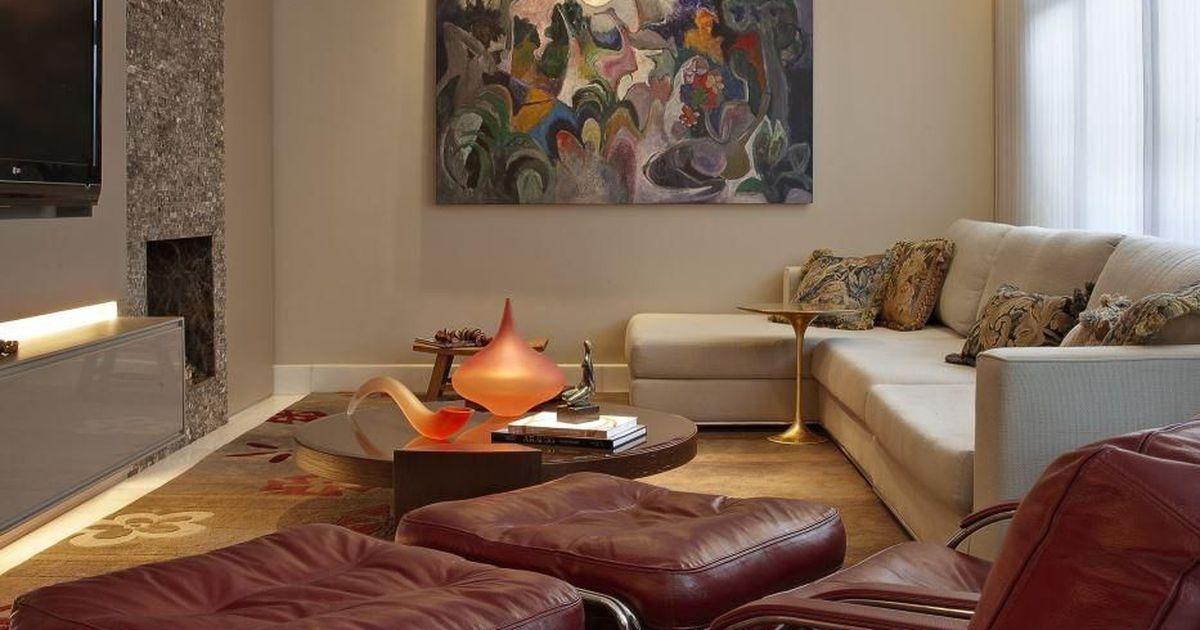 Quadro abstrato na sala de estar de gislene lopes 70158 for Sala de estar quadro