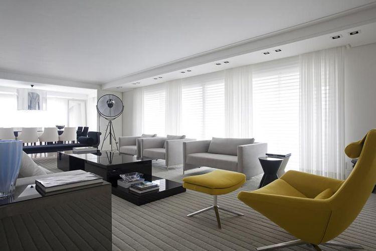Sala De Estar Com Poltrona Amarela ~ Sala De Estar Amarela  Poltrona amarela na sala de estar francisco