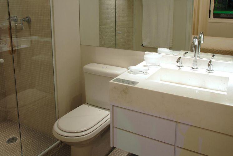Banheiro de Marel  Grupo Factory  1138 no Viva Decora -> Banheiro Decorado Ap