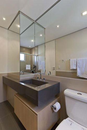 Banheiro com cuba marrom de Conseil Brasil  74852 no Viva Decora -> Cuba Banheiro Marrom