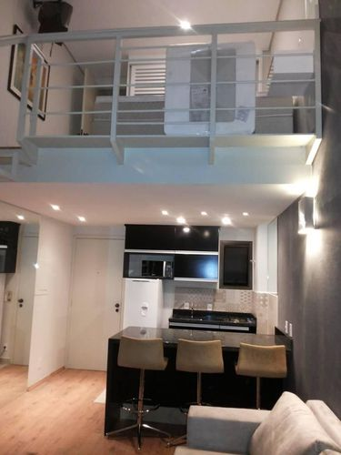 decoracao cozinha flat:Decoração Cozinha americana flat moema chrisambrosio 78001