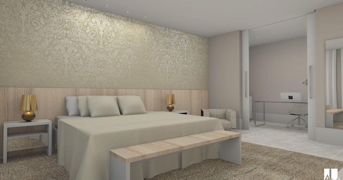 Papel de parede com designer moderno dourado de espa o au for Papel pared moderno