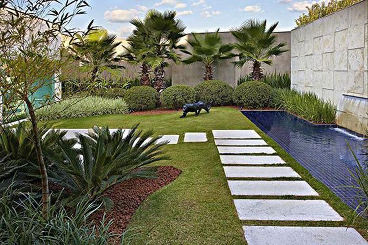 pedra jardim caminho:Jardim com caminho de pedras de Glaucia Britto – 18265 no Viva Decora