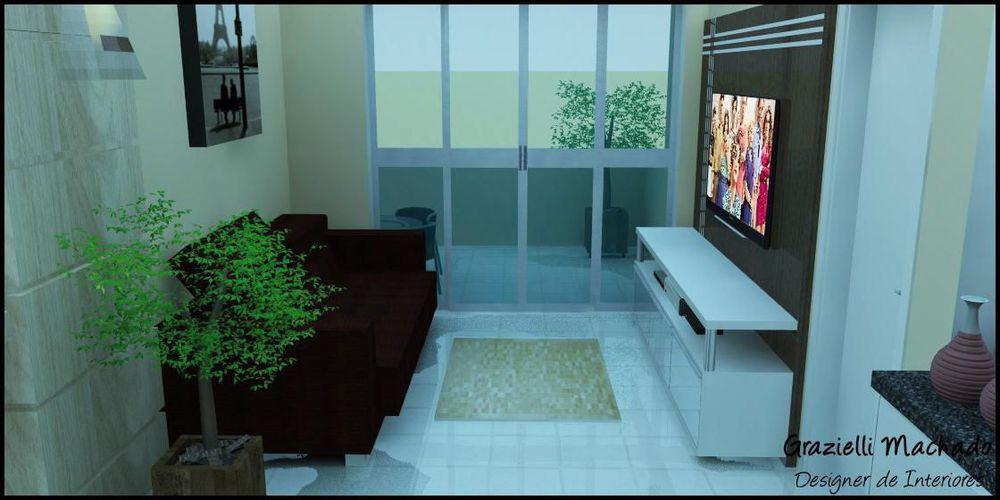 Sala De Estar Jovem ~ Decoração Sala de Estar Apartamento Casal Jovem graziellimachado