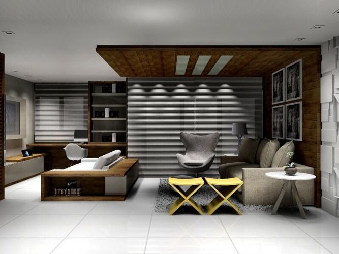 Sala De Estar Com Amarelo ~ Sala de estar com banco Amarelo de Jamilly Vasconcelos Goulart  54569