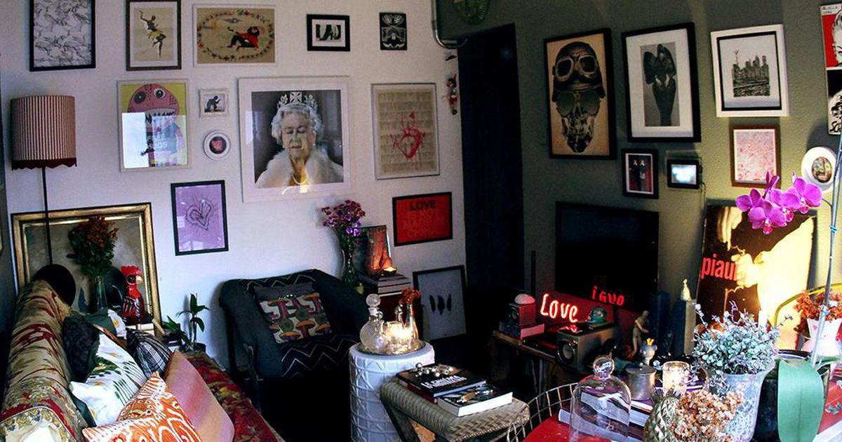 Sala de estar com quadros na decora o de dna produtora de for Decoracao sala de estar quadros