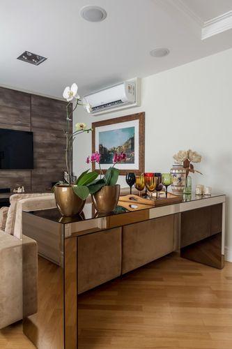 Sala de estar com piso de taco de fernanda duarte 64554 - Piso para sala de estar ...