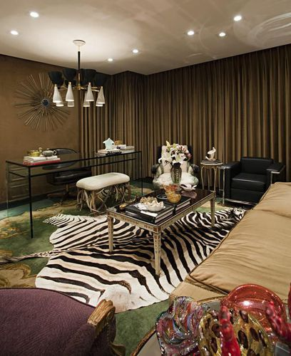 Decoracao Sala Zebra ~ decoracao sala zebraSala de estar com tapete de zebra de Studio