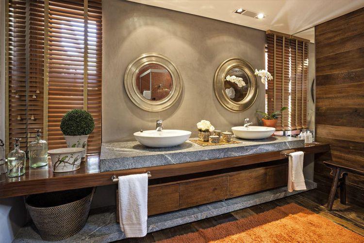 Lavabo estilo rústico moderno de gislene lopes   69797 no viva decora