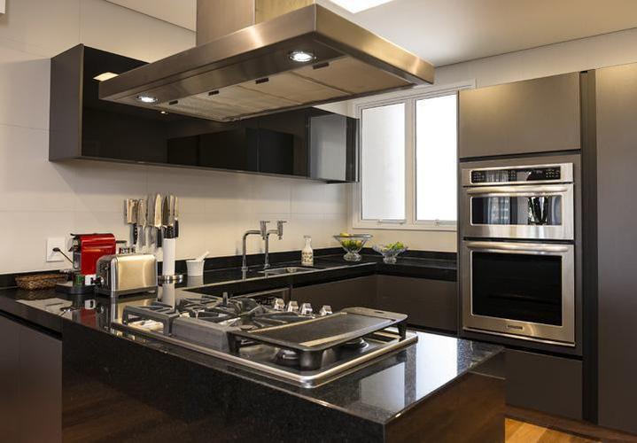 Decoração Cozinha planejada Cozinha Americana com Cooktop