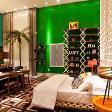 quarto de casal com mesa para os estudos de juliana pippi 70256 no viva decora. Black Bedroom Furniture Sets. Home Design Ideas