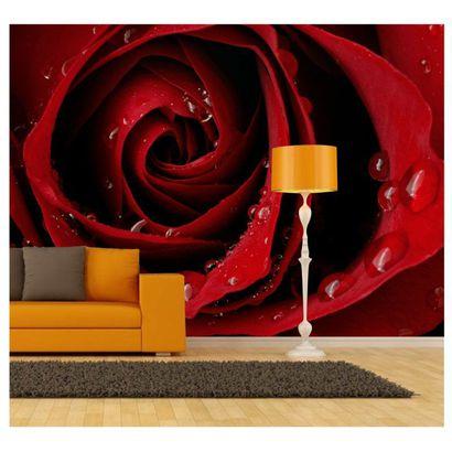 Papel De Parede Gg Adesivo Painel Flores Rosas Vermelhas 47