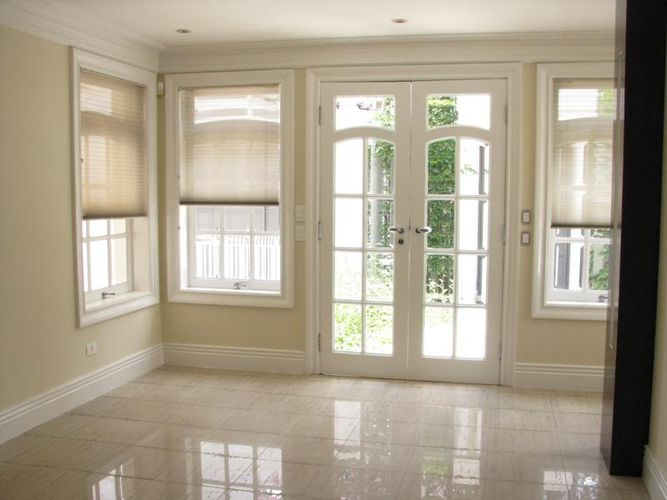 Porta De Vidro Para Sala De Jantar ~ Porta da sala de estar com vidro e moldura de gesso de Sarolla Mancini